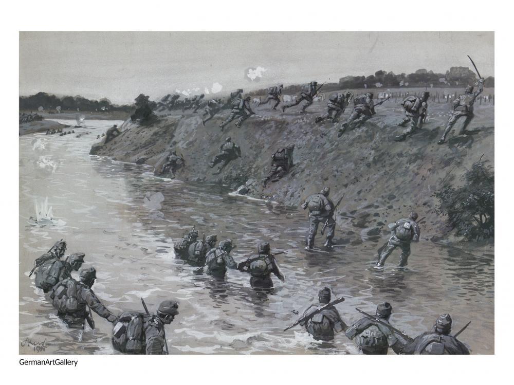 Adolf Reich, Crossing the Dnjestr River
