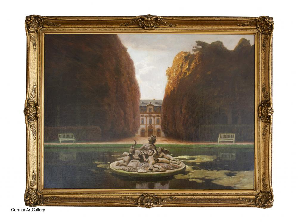 Fritz Bayerlein, Ceres Fountain, Palace of Versailles