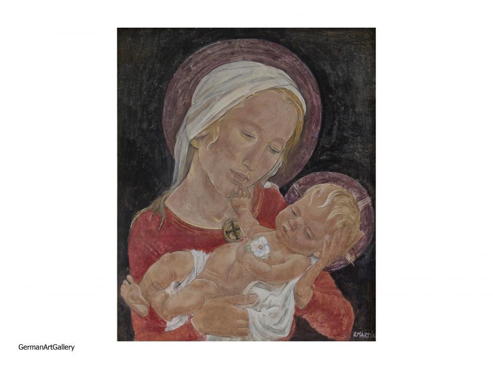 Oskar Martin Amorbach, Mother and Child