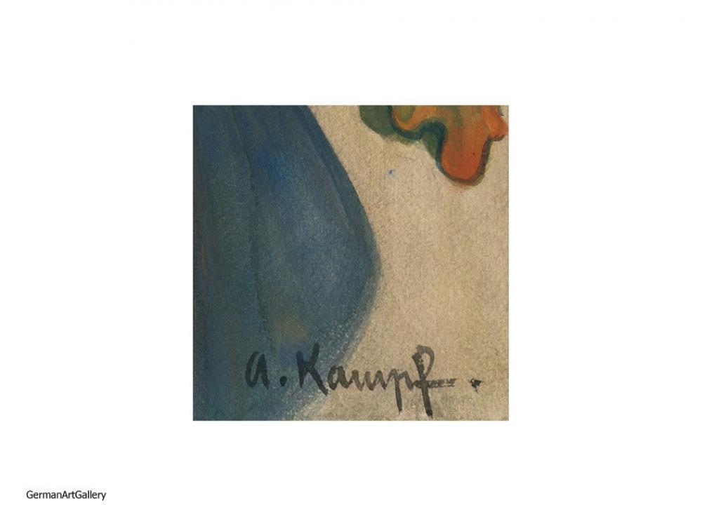 Arthur Kampf, Frau in Blauem Tuch