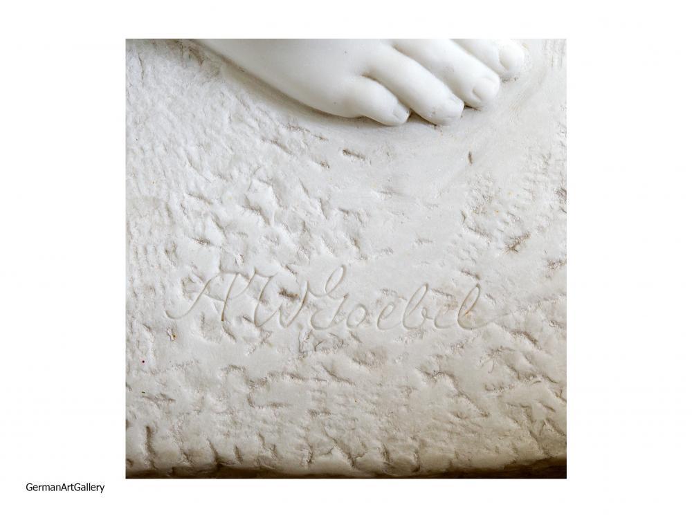 August Wilhelm Goebel, Sinnen (carara marble)