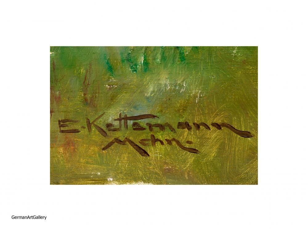 Erwin Kettemann, Blick auf den Watzmannn