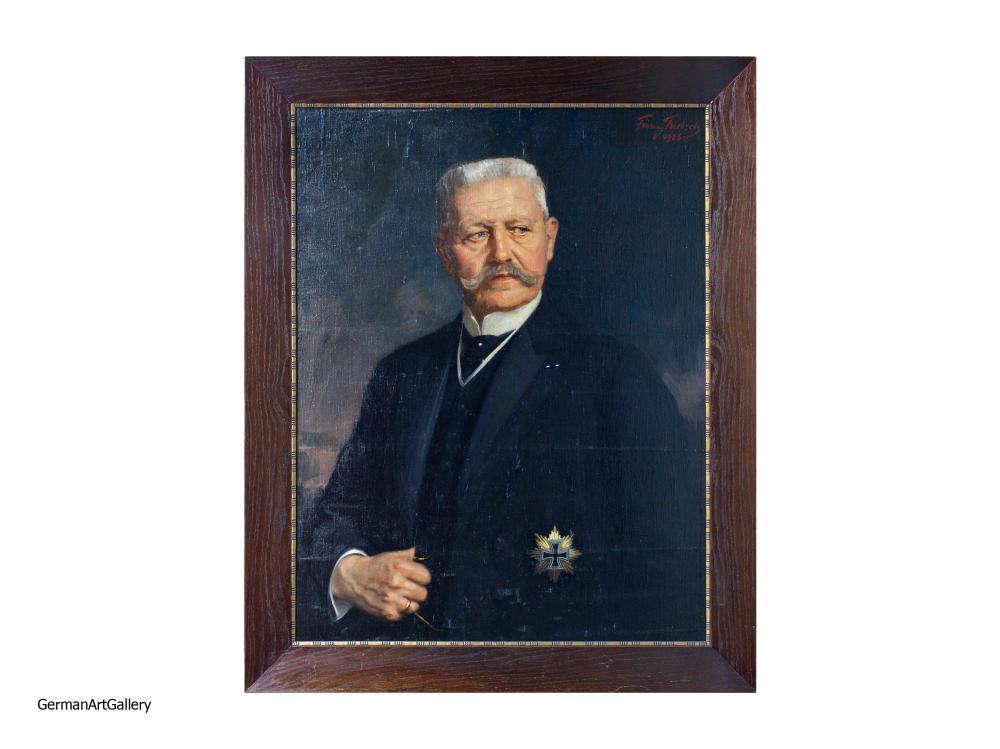 Franz Triebsch, Hindenburg in Black Tie with Hindenburgstar