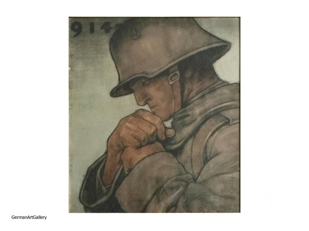 Fritz Erler, Soldat, 1918