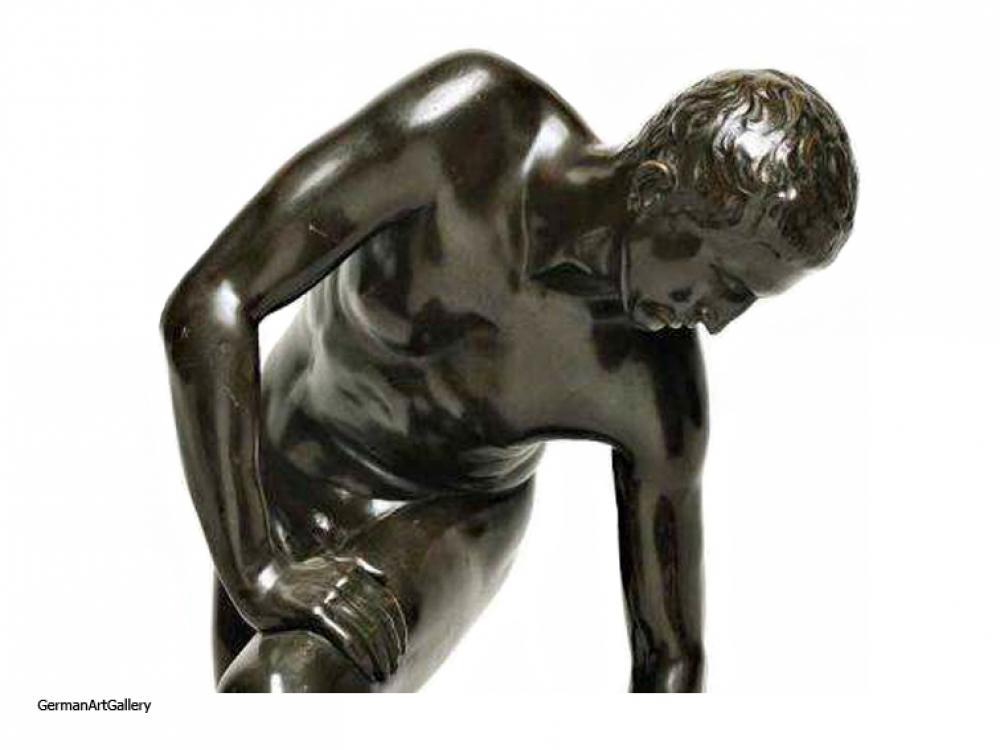 Fritz Röll, Sandal Binder, bronze
