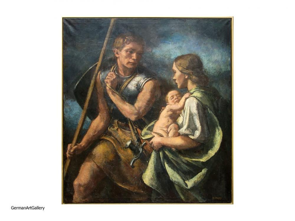 Hans Happ, Ausziehender Krieger