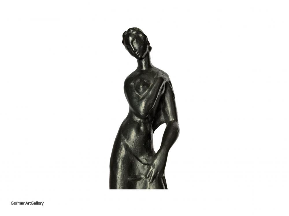 Jakob Wilhelm Fehrle, Standing Nude with Towel