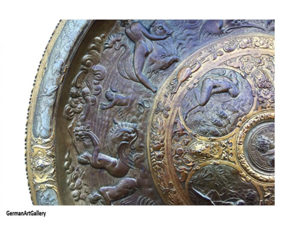 Carolus I, Relief by Lauchhammer