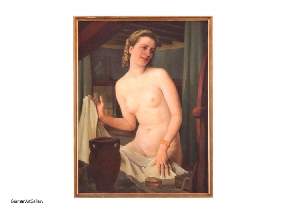 Leo Poeten, Weiblicher Akt mit Bernsteinarmband