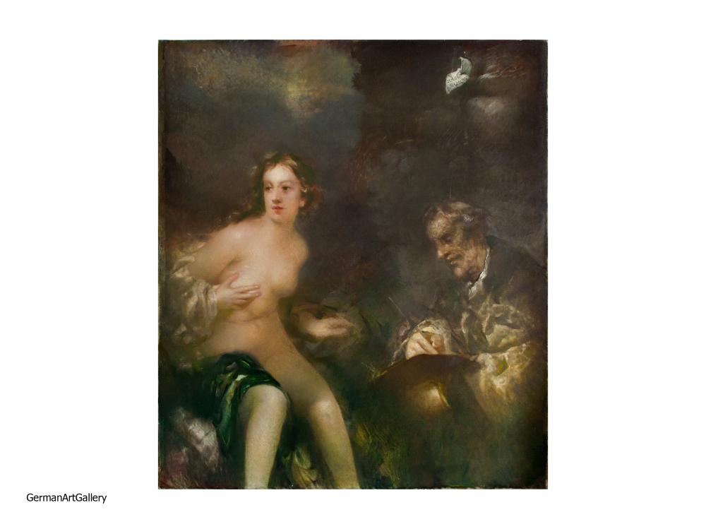 Raffael Schuster-Woldan, Maler und Modell