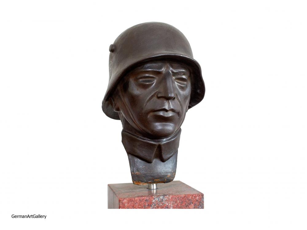 German Soldier with Stahlhelm, part of a monument