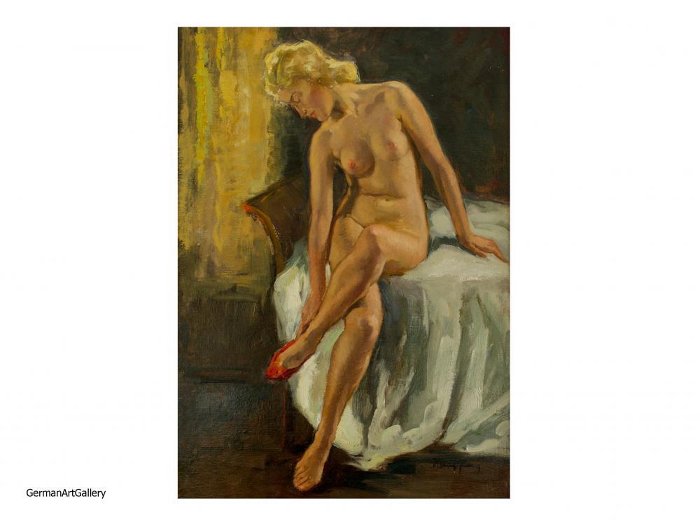 Wilhelm Hempfing, Sitting Nude